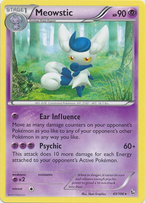 Pokemon X & Y Flashfire Rare Meowstic #43