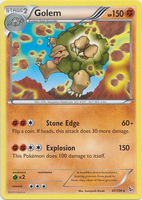 Pokemon X & Y Flashfire Rare Golem #47