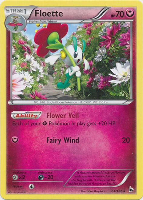 Pokemon X & Y Flashfire Rare Floette #64