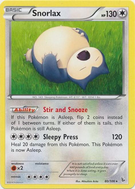 Pokemon X & Y Flashfire Rare Snorlax #80