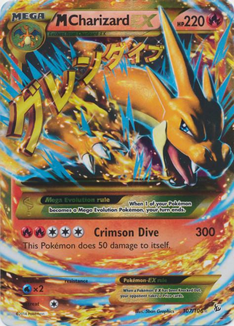 Pokemon X & Y Flashfire Secret Rare M Charizard EX #107