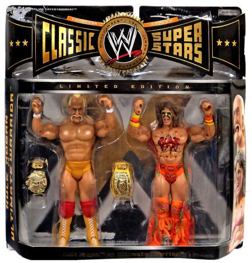 WWE Wrestling Classic Superstars Hulk Hogan & Ultimate Warrior Exclusive Action Figure 2-Pack
