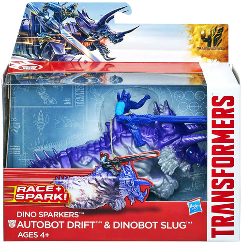 Transformers Age of Extinction Dino Sparkers Autobot Drift & Dinobt Slug Action Figure
