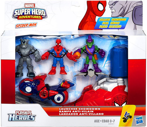 Marvel Super Hero Adventures Launcher Showdown Exclusive Mini Figure 3-Pack