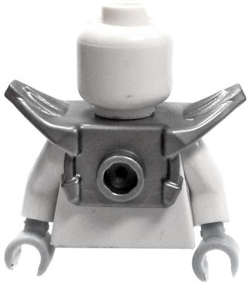 LEGO Armor Silver Shoulder Pads with Front Stud and 2 Back Studs [Loose]