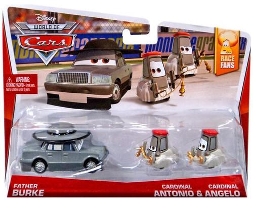 Disney / Pixar Cars The World of Cars Father Burke, Cardinal Antonio & Angelo Diecast Car 3-Pack #2/9, 3/9 & 4/9