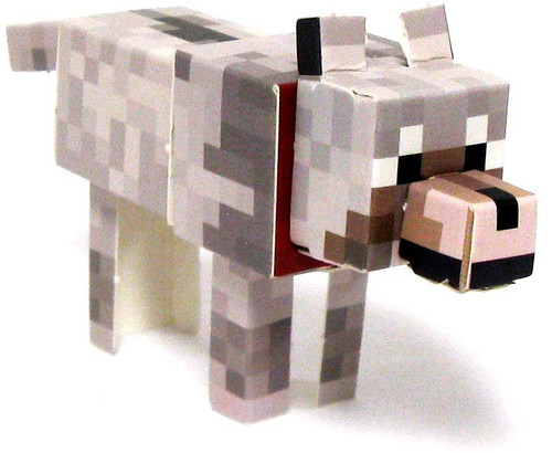 Minecraft Tame Wolf Papercraft [Single Piece]