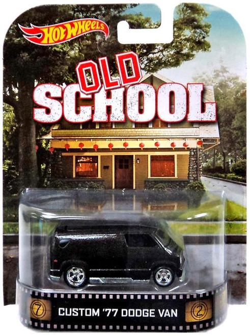 Hot Wheels Old School HW Retro Entertainment Custom '77 Dodge Van Die-Cast Car