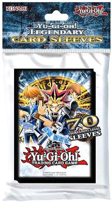 YuGiOh Trading Card Game Official Sleeves Legendary Small Card Sleeves [70 Count]