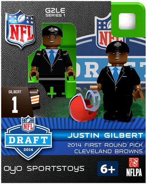 Cleveland Browns NFL 2014 Draft First Round Picks Justin Gilbert Minifigure