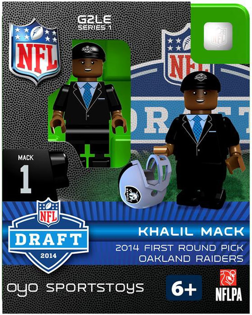 Oakland Raiders NFL 2014 Draft First Round Picks Khalil Mack Minifigure
