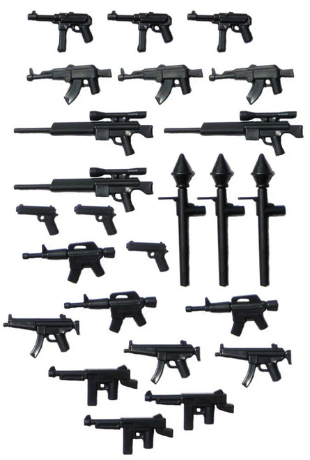 BrickArms Custom 24 Piece 2.5-Inch Weapons Pack