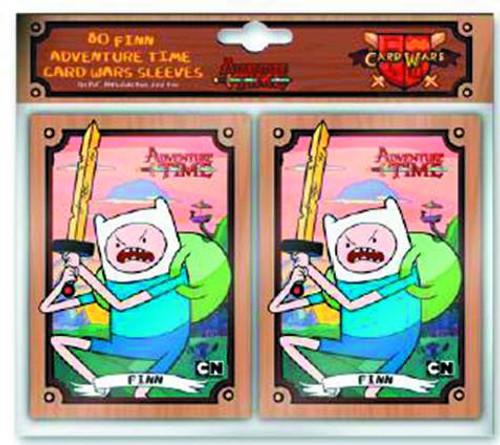 Adventure Time Card Wars Card Supplies Finn Card Sleeves [80 ct]