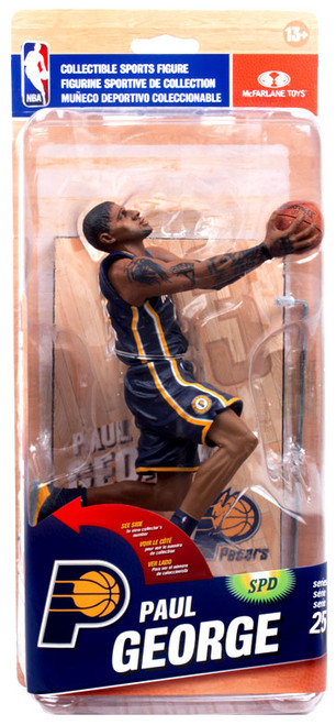 McFarlane Toys NBA Indiana Pacers Sports Picks Series 25 Paul George Collector Level Action Figure [Blue Uniform]