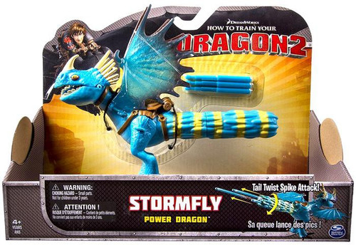 How to Train Your Dragon 2 Power Dragons Stormfly Action Figure [Yellow & Blue Tail]