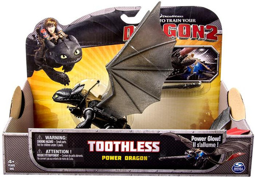 How to Train Your Dragon 2 Power Dragons Toothless Action Figure [Power Glow]