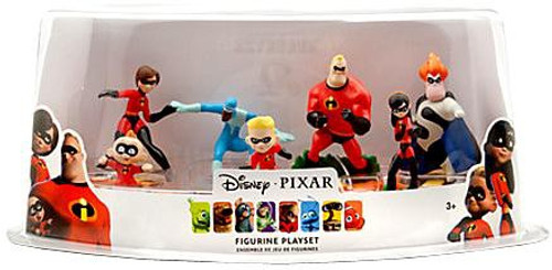 Disney / Pixar Incredibles Exclusive 7-Piece PVC Figure Play Set
