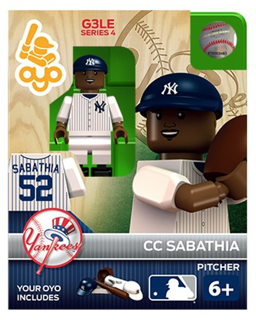 New York Yankees MLB Generation 3 Series 4 CC Sabathia Minifigure P-MLBNYY52-G3LE