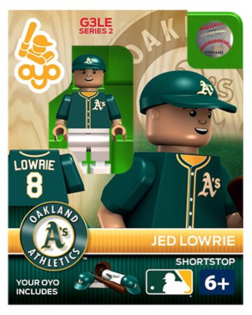 Oakland A's MLB Generation 3 Series 2 Jed Lowrie Minifigure P-MLBOAK08-G3LE