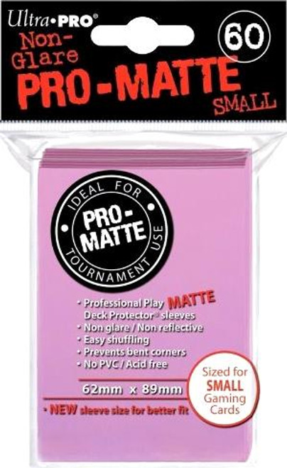 Ultra Pro Card Supplies Non-Glare Pro-Matte Pink Small Card Sleeves [60 Count]