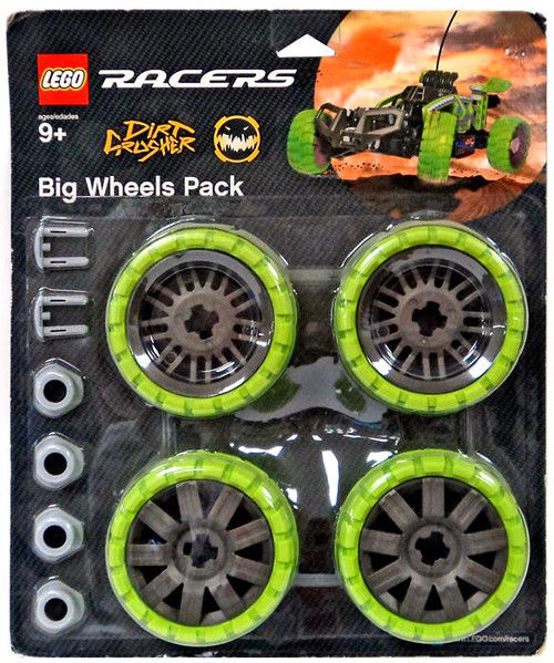 LEGO Racers Dirt Crusher Big Wheels Pack Set #4286025 [Green]