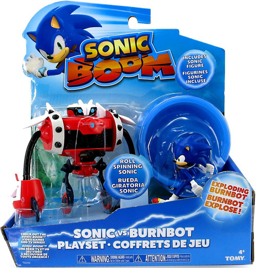 Sonic The Hedgehog Sonic Boom Sonic vs. Burnbot Playset Action Figure 2-Pack
