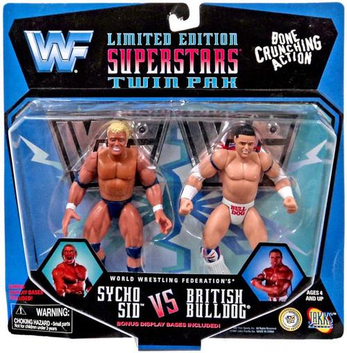 WWE Wrestling WWF Superstars Sycho Sid vs. British Bulldog Action Figure 2-Pack