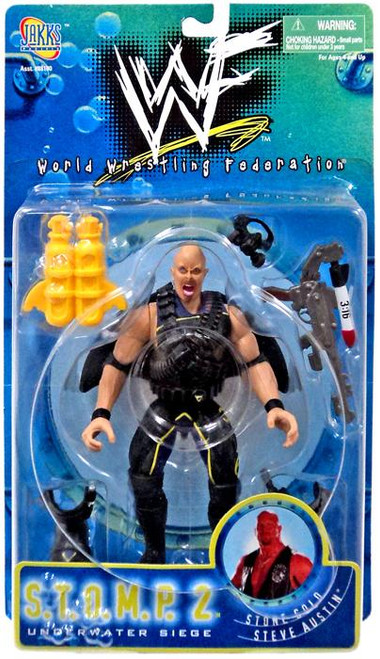 WWE Wrestling WWF S.T.O.M.P. Underwater Seige Series 2 Stone Cold Steve Austin Action Figure