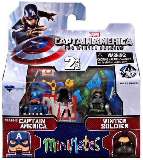 The Winter Soldier Minimates Series 55 Classic Captain America & Winter Soldier Minifigure 2-Pack
