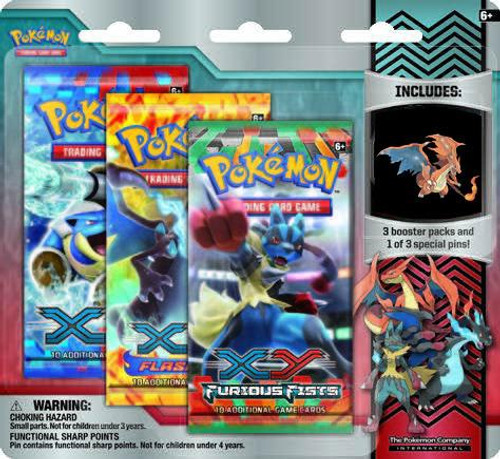 Pokemon Trading Card Game XY Mega Fire Type Charizard Special Edition [3 Booster Packs & Pin]