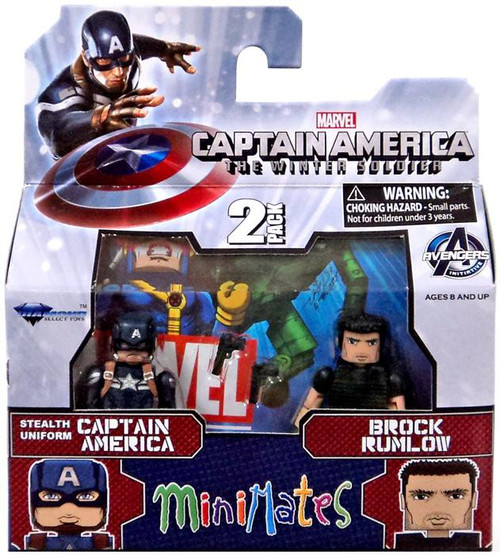 The Winter Soldier Minimates Series 55 Stealth Uniform Captain America & Brock Rumlow Minifigure 2-Pack