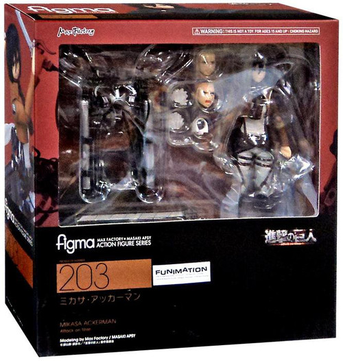 Attack on Titan Figma Mikasa Ackerman Action Figure #203
