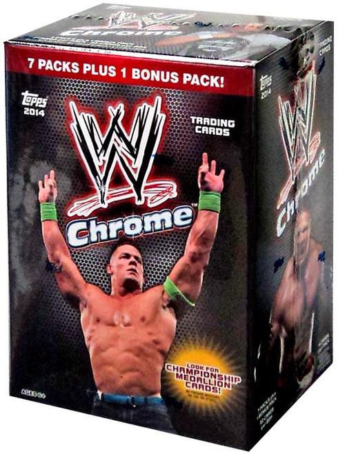WWE Wrestling 2014 Chrome Trading Card BLASTER Box [7 Packs + 1 Bonus Pack!]