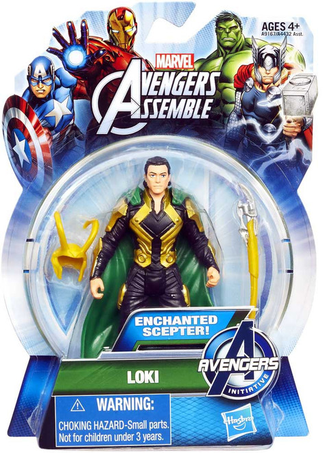 Marvel Avengers Assemble Loki Action Figure [Enchanted Scepter]