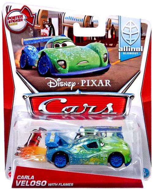 Disney / Pixar Cars Mainline Carla Veloso with Flames Diecast Car #1 of 9