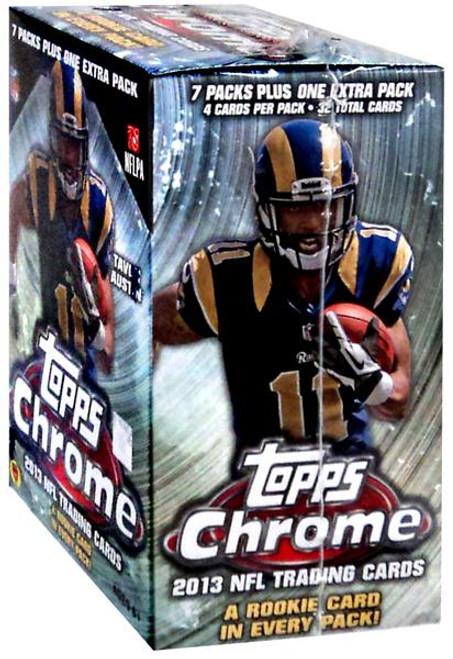 NFL Topps 2013 Chrome Football Trading Card BLASTER Box