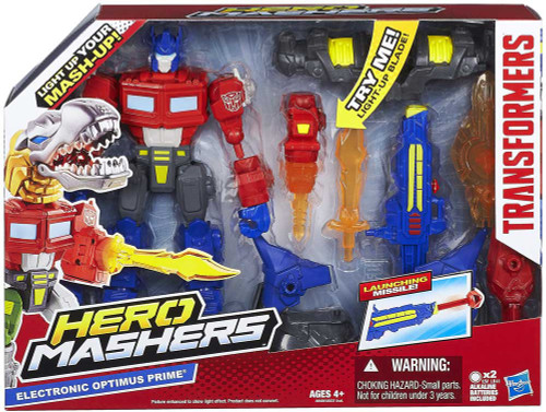Transformers Hero Mashers Electronic Electric Optimus Prime Action Figure