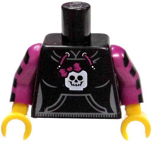 LEGO Black Hooded Sweatshirt with Pockets, Skull Loose Torso [Loose]
