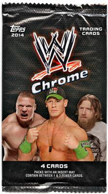 WWE Wrestling 2014 Chrome Trading Card RETAIL Pack [4 Cards!]