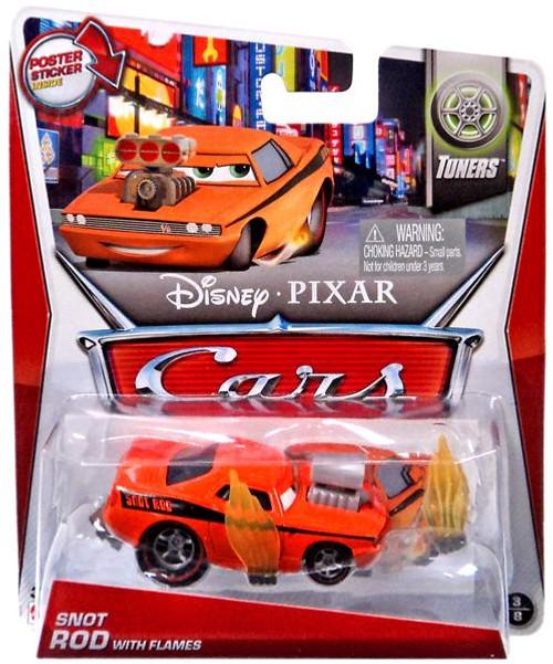 Disney / Pixar Cars Mainline Snot Rod with Flames Diecast Car #3 of 8