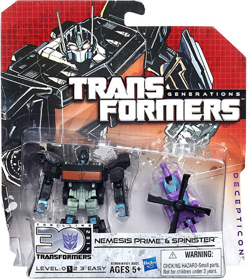 Transformers Generations Legends Nemesis Prime & Spinster Legend Action Figure