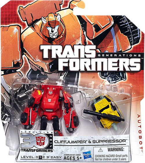 Transformers Generations Legends Cliffjumper & Suppressor Legend Action Figure