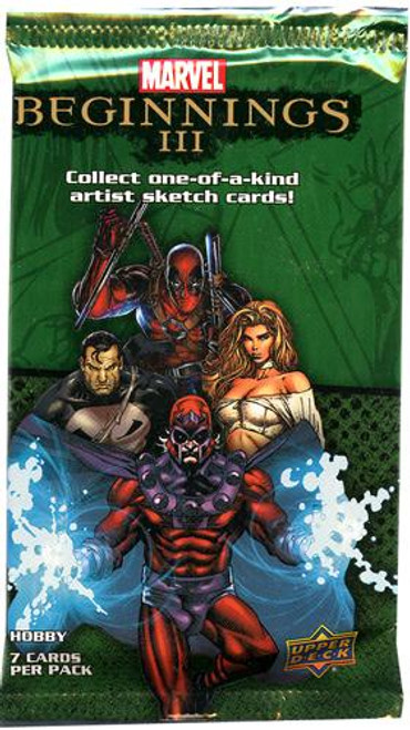 Marvel Beginnings III Trading Card HOBBY Pack
