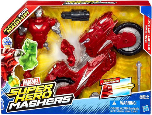 Marvel Super Hero Mashers Figure & Vehicle Iron Man Hotshot Hot Rod Action Figure