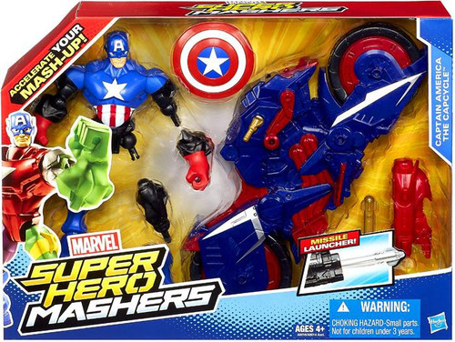 Marvel Super Hero Mashers Figure & Vehicle Captain America The Capcycle Action Figure