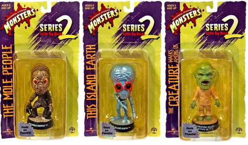Universal Monsters Little Big Heads Series 2 Set of 3 Mini Figures