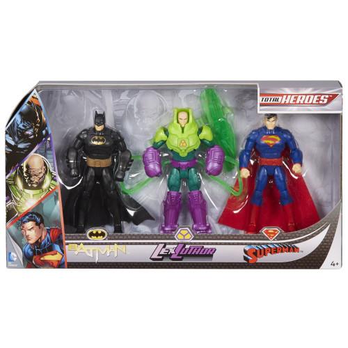 DC Total Heroes Batman, Lex Luthor & Superman Action Figure 3-Pack