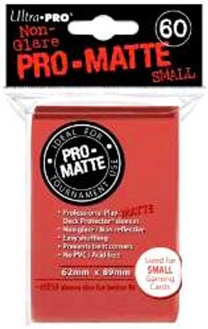 Ultra Pro Card Supplies Non-Glare Pro-Matte Red Small Card Sleeves [60 Count]