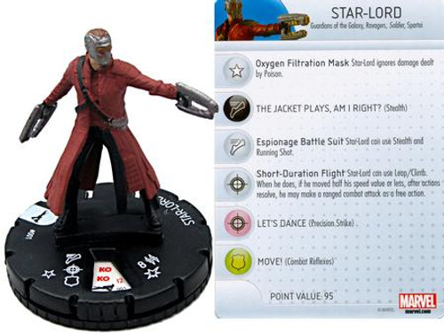 Marvel Guardians of the Galaxy HeroClix Star-Lord #001