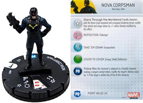 Marvel Guardians of the Galaxy HeroClix Nova Corpsman #003